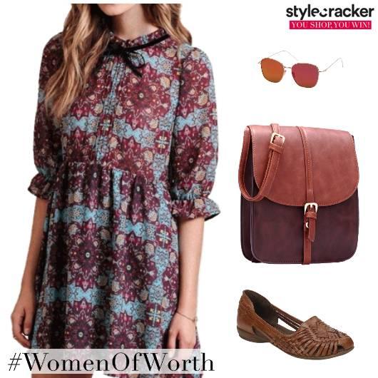 Printed Boho Dress DayDress - StyleCracker