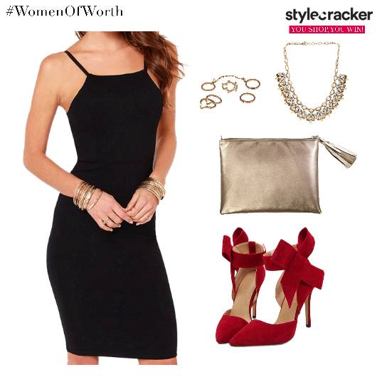 BodyconDress StatementShoes Clutch Accessories - StyleCracker