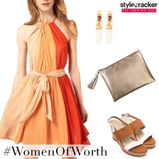 ColourBlock Brights Party Dress  - StyleCracker