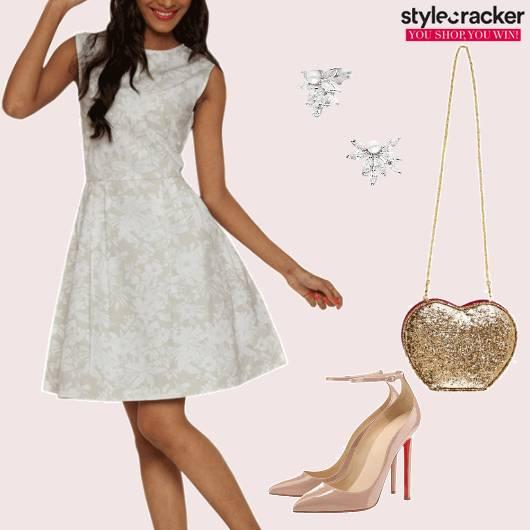 Floral Skater Dress Party  - StyleCracker
