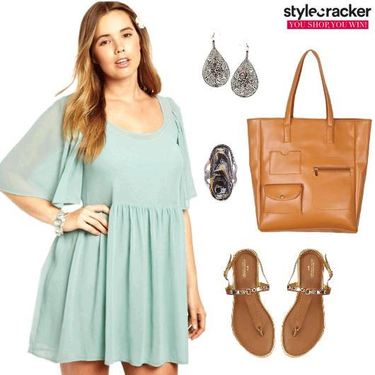 Pastel Summer Dress Flare  - StyleCracker