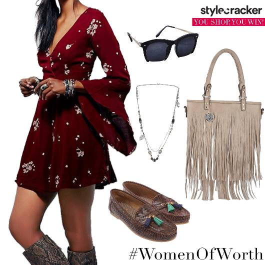 FlareSleeves Dress Day Summer  - StyleCracker
