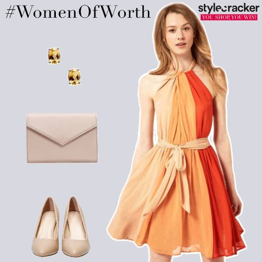 Day Lunch Ombré ColourBlock Dress  - StyleCracker