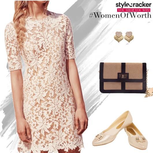 DayWear Dress EmbellishedShoes - StyleCracker