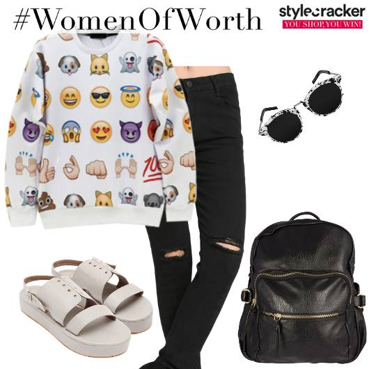 Casual Sweater Jeans College Ripped - StyleCracker