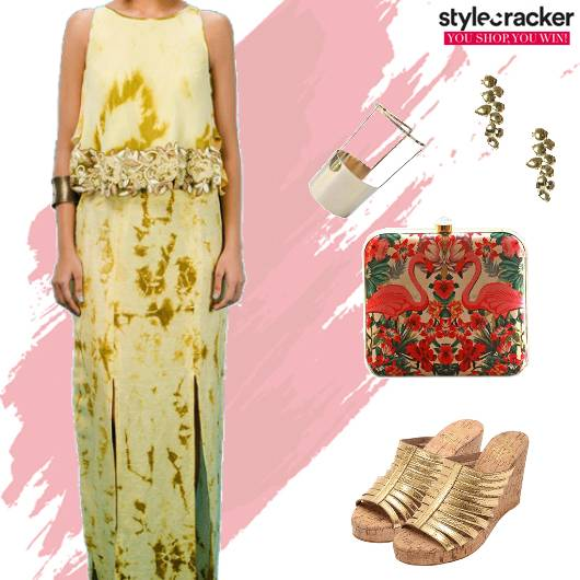 Festive Indian Skirt Top ContrastClutch - StyleCracker