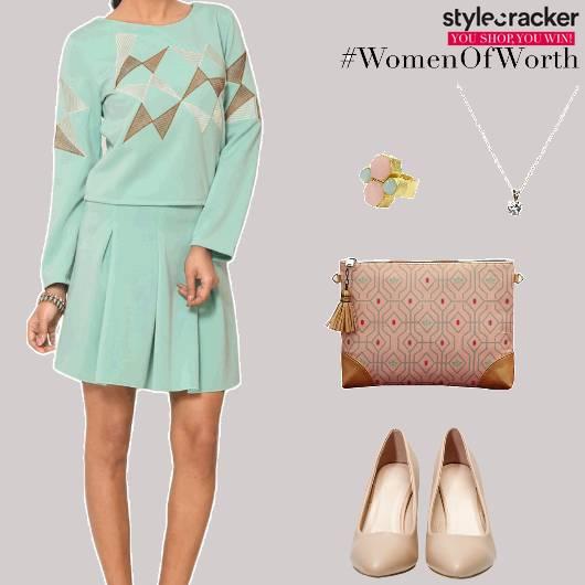 TwinSet Top Skirt PrintedClutch - StyleCracker