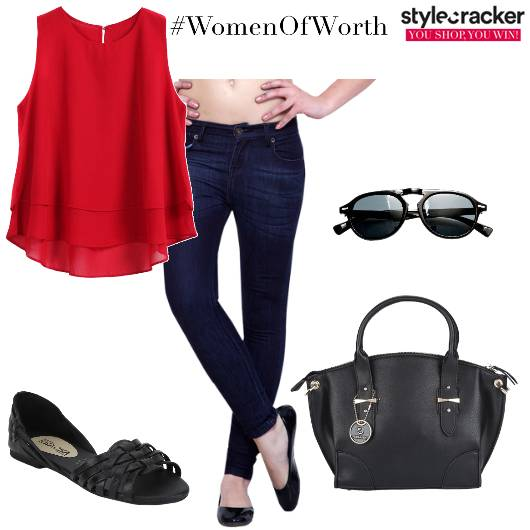 Workwear SmartCasual Jeans Red - StyleCracker