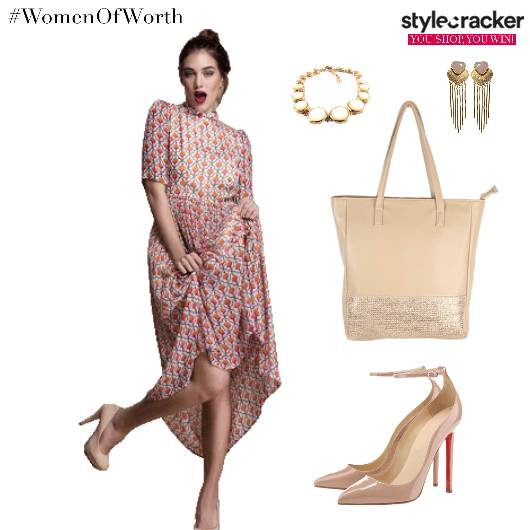 MaxiDress NudeShoes Bag Accessories - StyleCracker