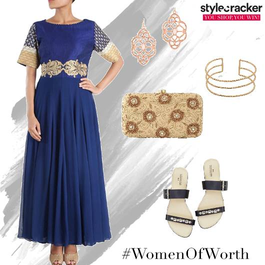 Anarkali Flats Clutch Ethnic - StyleCracker