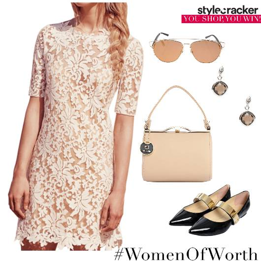 Lace Dress Summer Lunch Date - StyleCracker