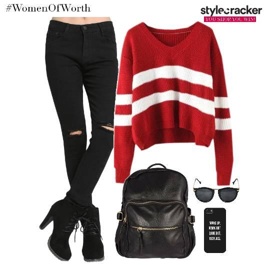 Knitted Denims Backpack MobileCover Sunglasses - StyleCracker