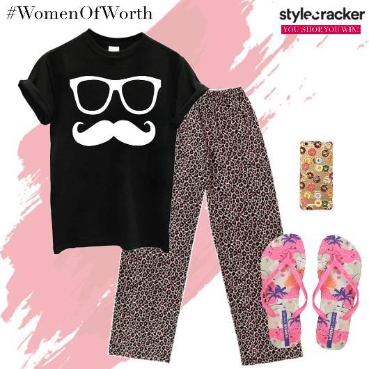 NightWear Printed Sleepover TShirt Pyjama - StyleCracker