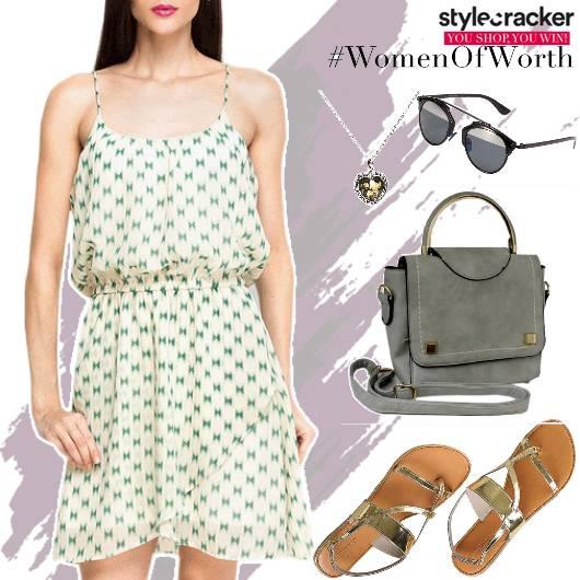 Casual SummerDress Sunglasses Flats - StyleCracker