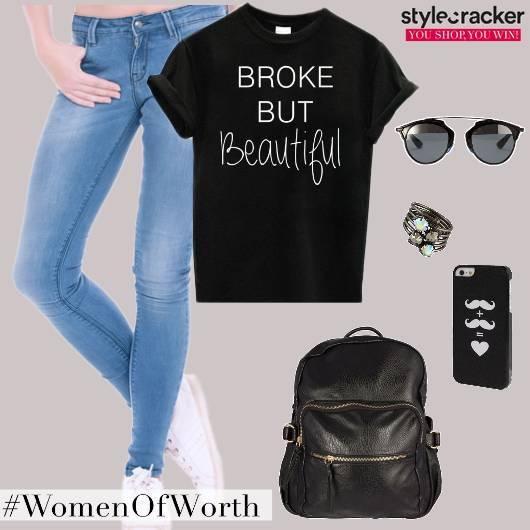 Casual CollegeWear BasicTee Backpack - StyleCracker