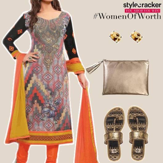 Ethnic Casual Indian ChuridaarSuit - StyleCracker