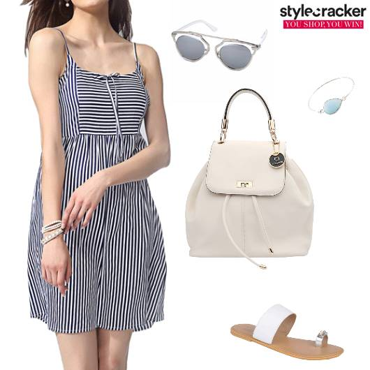 Striped DayDress Monochrome Casual - StyleCracker