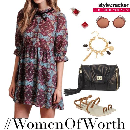 Day Print Dress Summer Casual  - StyleCracker