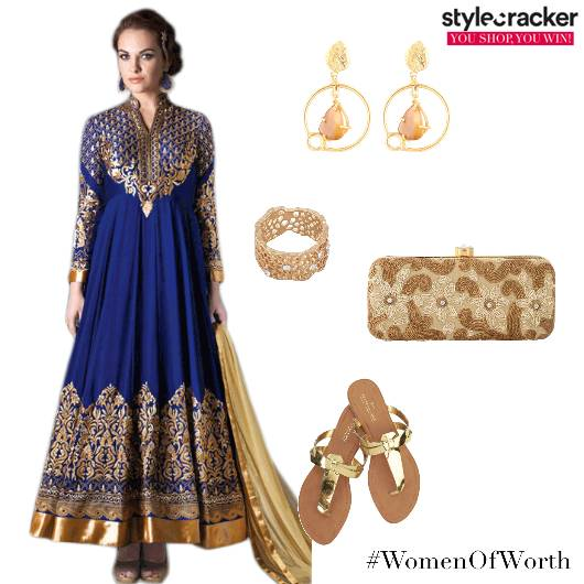 Suit Ethnic Clutch Flats  - StyleCracker