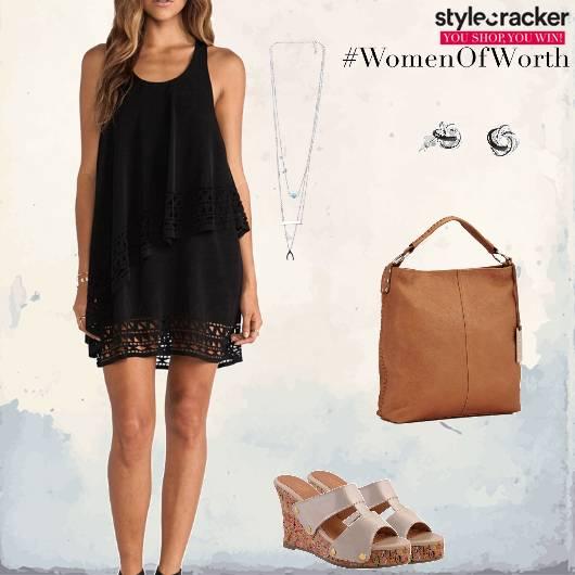 Dress Wedges Handbag Evening Date - StyleCracker