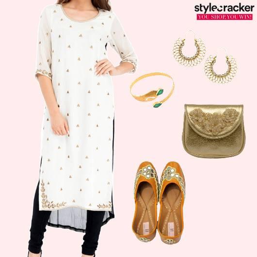 Kurta Embroidered Juttis  Indian  - StyleCracker