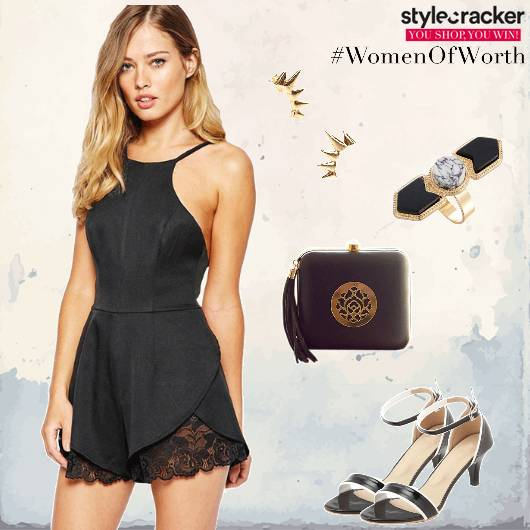 Playsuit lace KittenHeels Clutch Party - StyleCracker