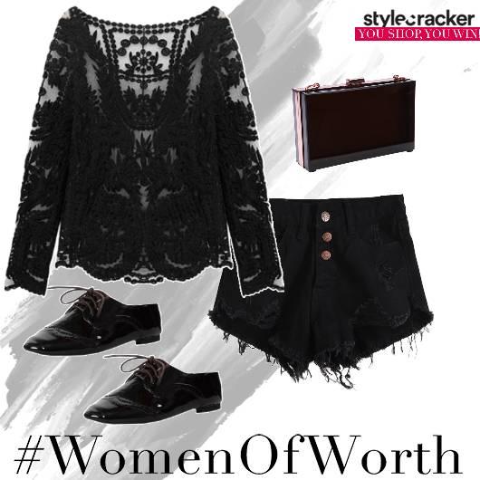 Lace Shorts Night Party  - StyleCracker