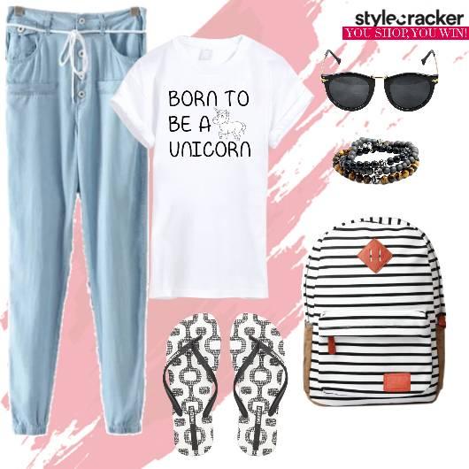 Jogges T-shirt Casual College Summer - StyleCracker