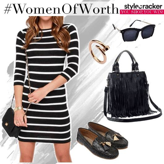 Stripes Dress Fringe Lunch Summer - StyleCracker