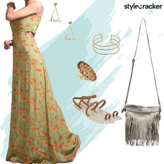 Floral Long Dress Brunch - StyleCracker