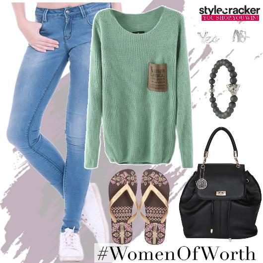 Jeans SweatShirt Casual College  - StyleCracker