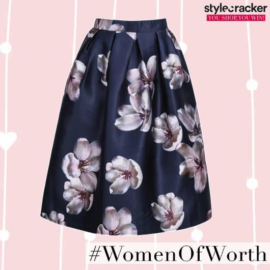 SCLOVES Printed Skirt  - StyleCracker