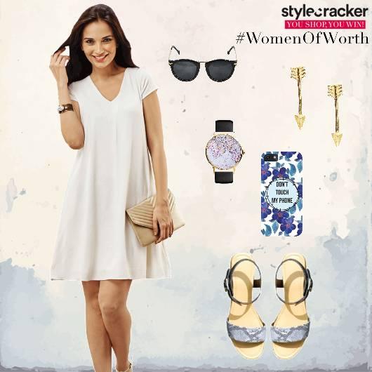 Dress Flats Earrings Casual Brunch - StyleCracker