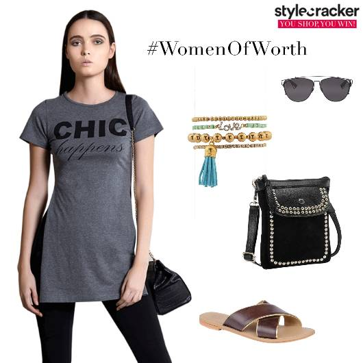 Tshirt Graphic Crossbodybag Flats Casual TRavel - StyleCracker