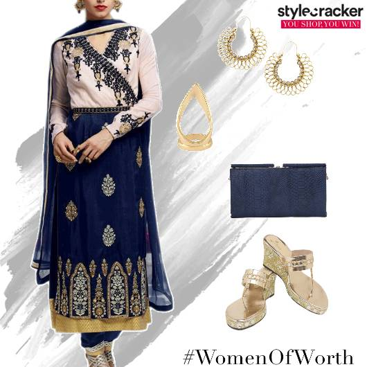 Anarkali Suit Heels Clutch Ethnic Festive - StyleCracker