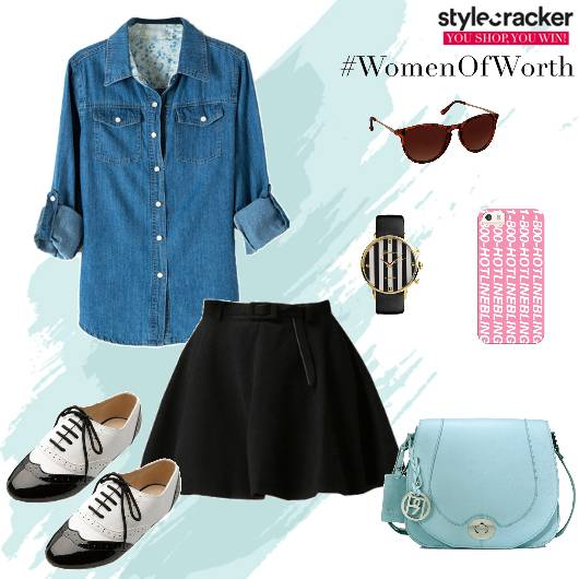 DenimShirt Jeans Slingbag Onthego backtoschool - StyleCracker