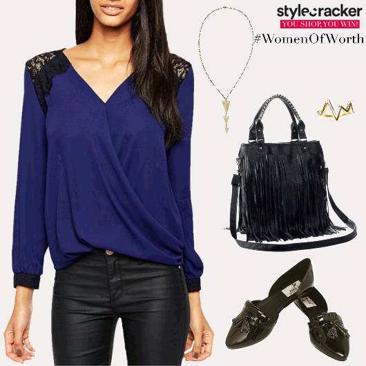 Casual Dinner Top LaceDetails - StyleCracker