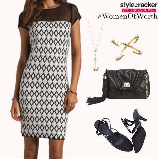 Monochrome Dress SlingBag Necklace - StyleCracker