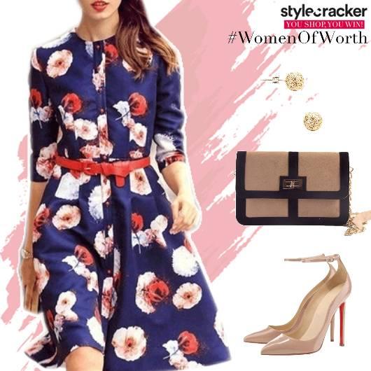 FloralPrint Dress Pumps - StyleCracker