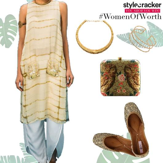 Ethnic Indian TieAndDye Kurta DhotiPants - StyleCracker