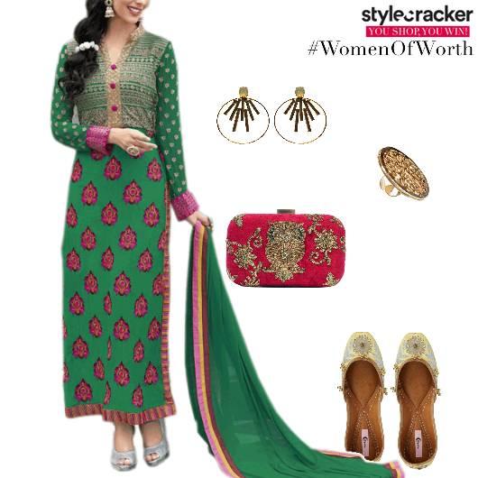 Suit Clutch Juttis Ethnic  - StyleCracker