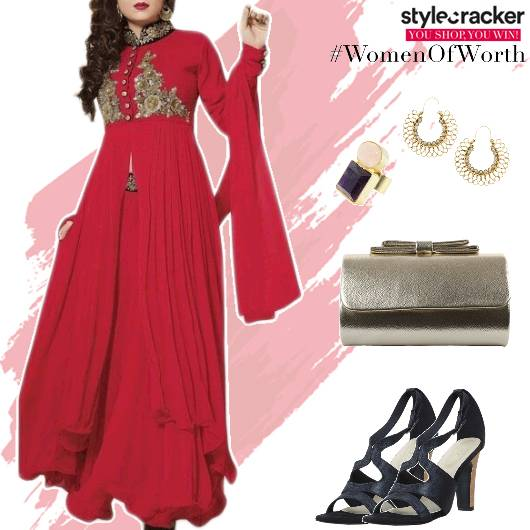 Festive Indian Anarkali Skirt  - StyleCracker