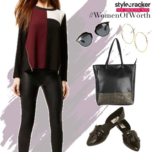 Casual WorkWear ColourBlock Top  - StyleCracker