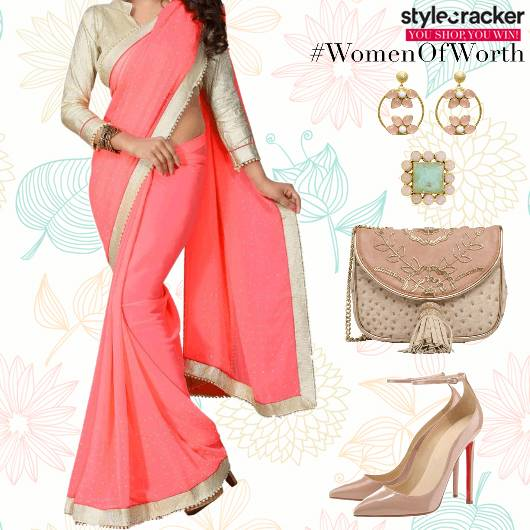 Festive Ethnic Indian Saree - StyleCracker