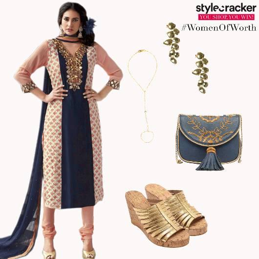 ChuridarKurta MirrorWork Indian Ethnic  - StyleCracker