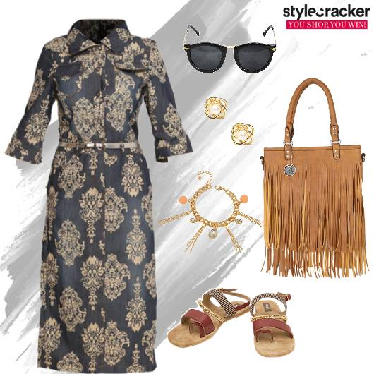 Print Dress Fringe Summer - StyleCracker