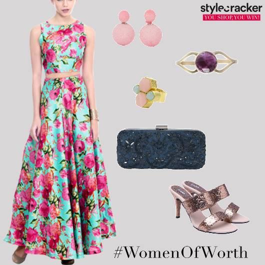 Floral Set Indian Ethnic Wedding Summer - StyleCracker