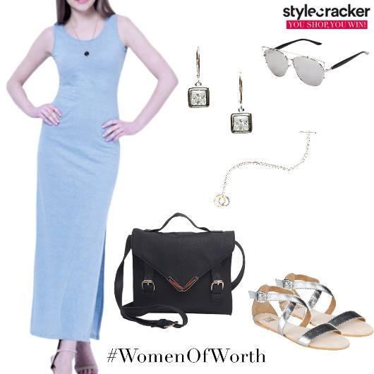 Slit Summer Dress Casual Day - StyleCracker