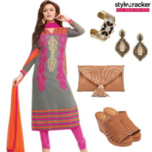 ChuridarKurta Indian Wedges Ethnic  - StyleCracker