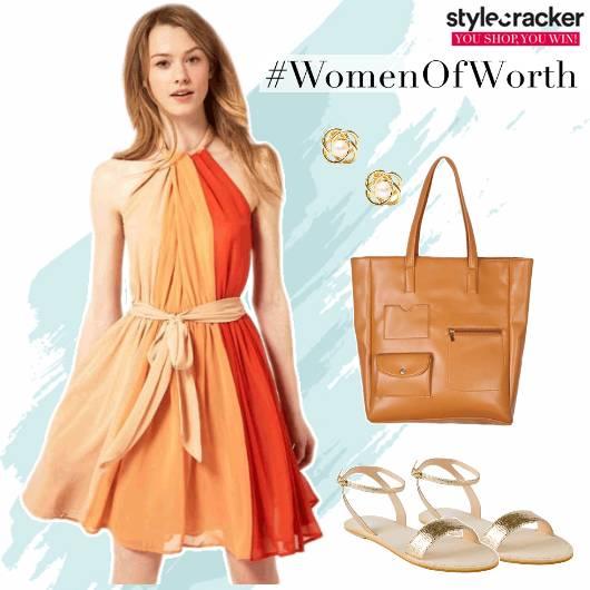 Dress ColourBlock Summer Casuals  - StyleCracker
